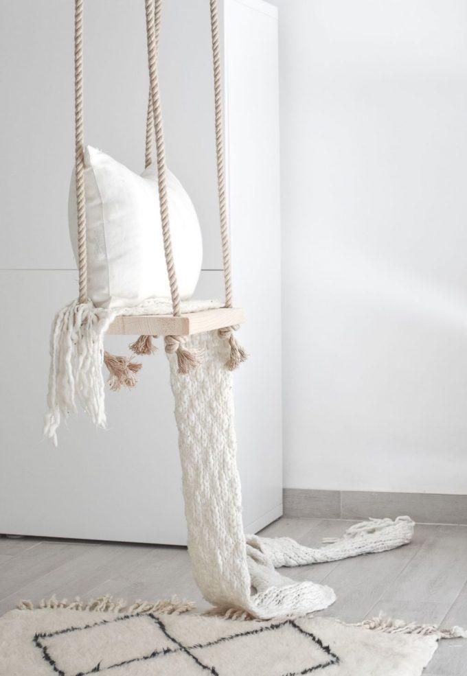 DIY balançoire intérieure bricolage facile design - blog déco - clem around the corner
