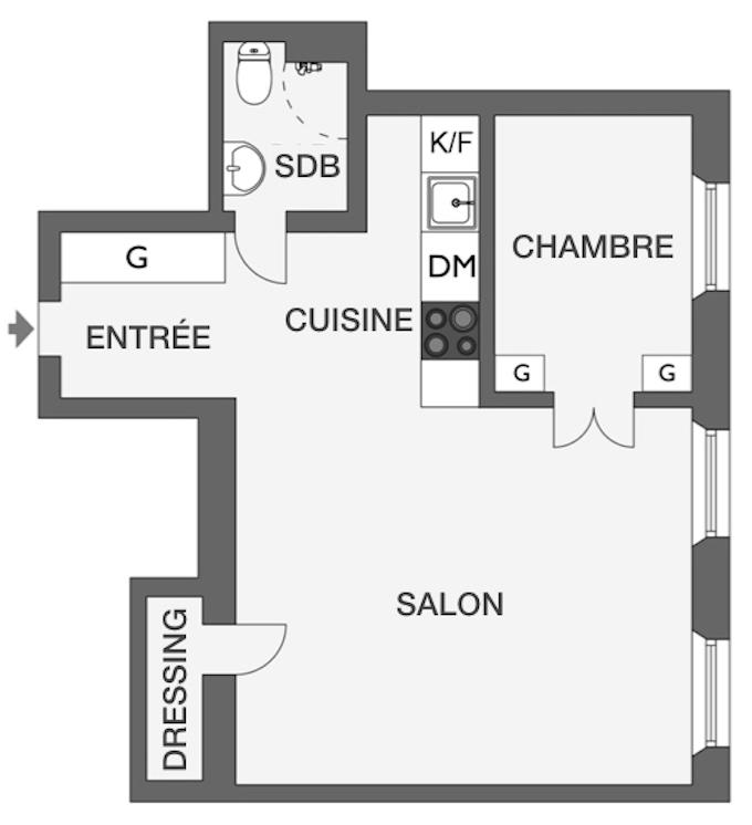 déco en noir et blanc plan appartement visite déco blog déco clem around the corner