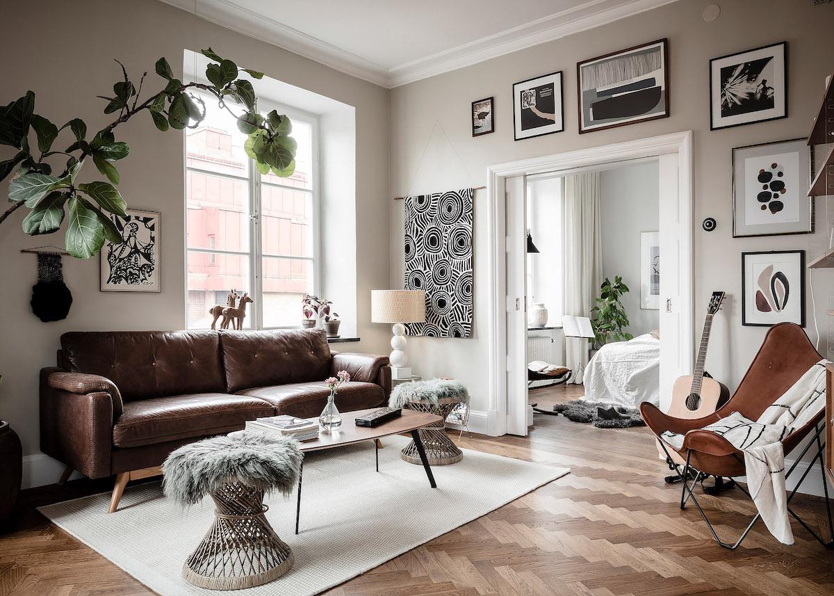 Idee Deco Suspension Salon ambiance rustique : visite d'un appart suédois - clem around
