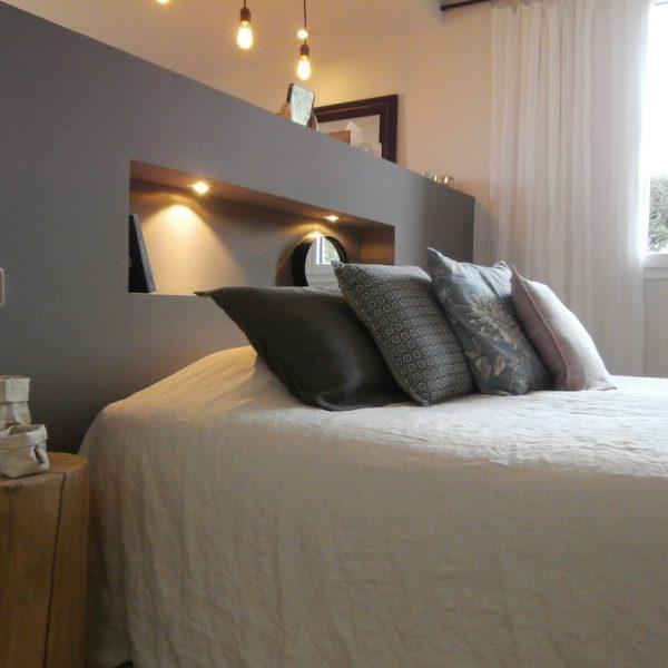 aménagement chambre à coucher feng shui photo large lit gris -blog déco- clem around the corner