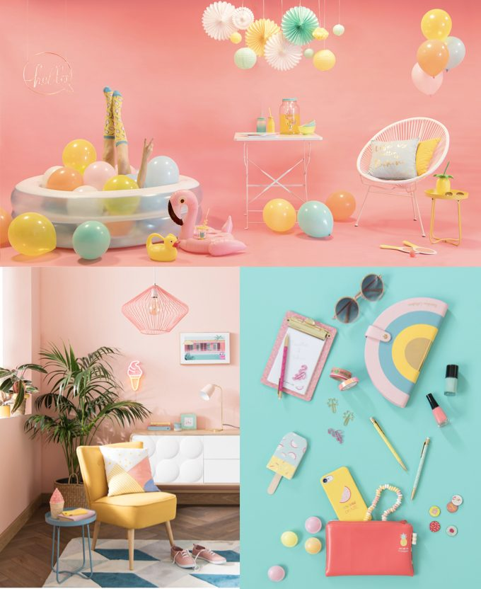 ananas arc en ciel nouveau catalogue Maisons du Monde 2019 - blog déco - clem around the corner