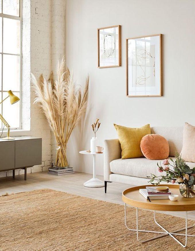 l'herbe de la pampa bouquet déco ambiance artsy cosy chaleureux - blog déco - clem around the corner