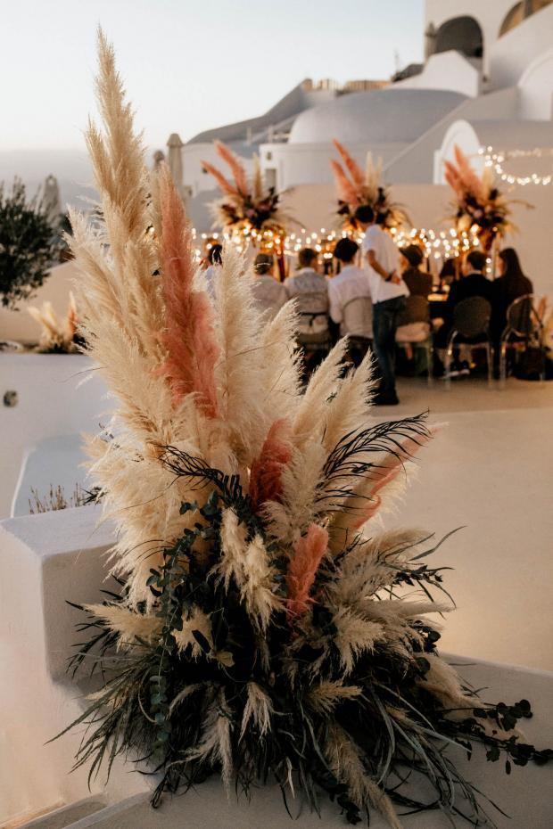 l'herbe de la pampa rose végétale décoration mariage - blog déco - clem around the corner