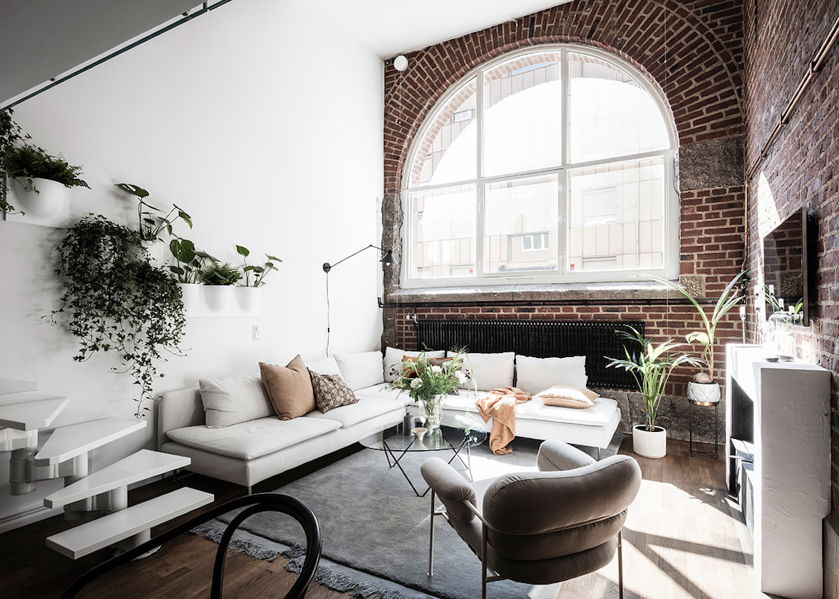 Salon Cuisine Style Industriel loft suédois : un appart au style new-yorkais - clem around