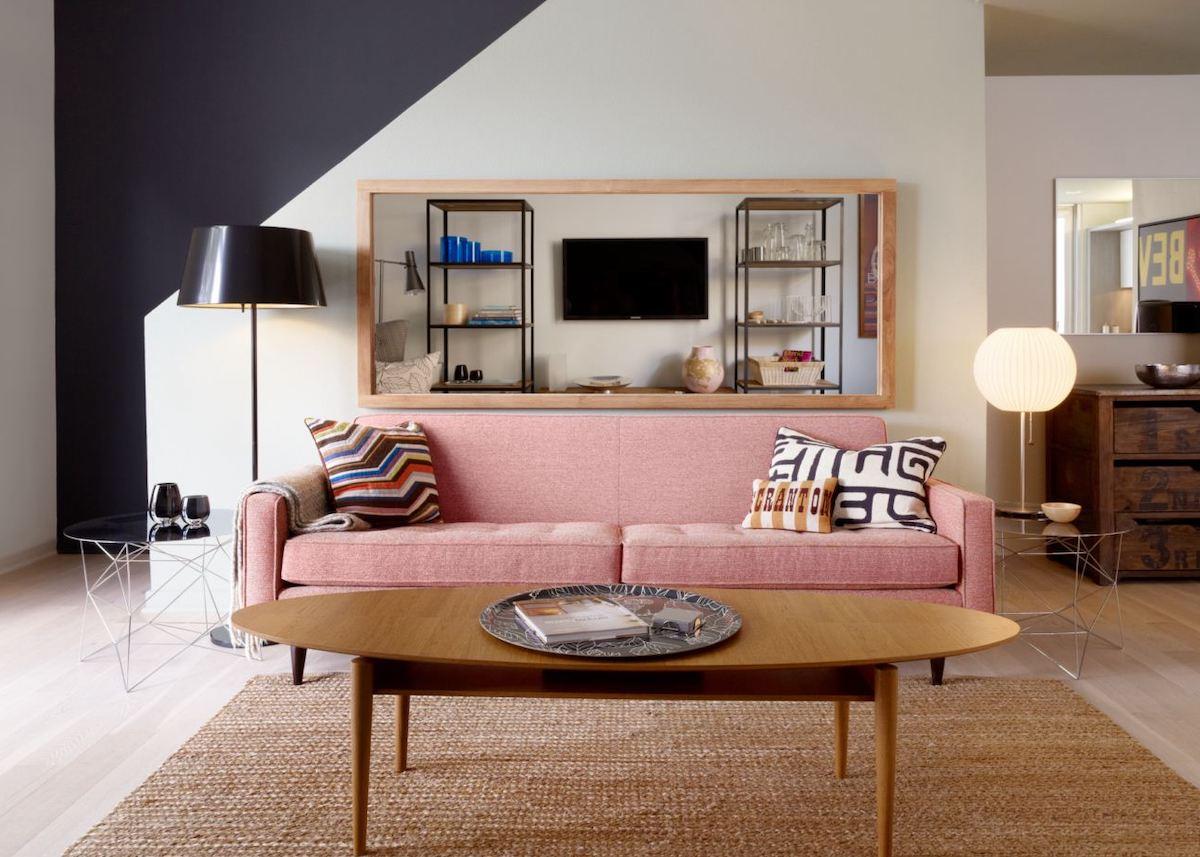 Deco Salon Rose Poudré où trouver un canapé rose pour une déco millennial pink