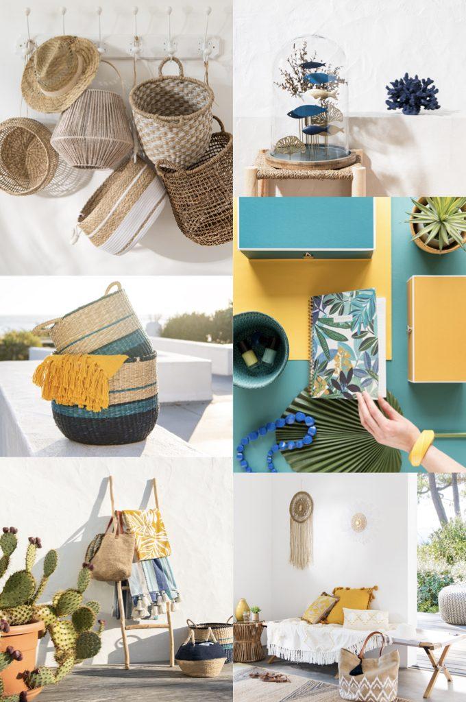 panier osier nouveau catalogue Maisons du Monde 2019 - blog déco - clem around the corner