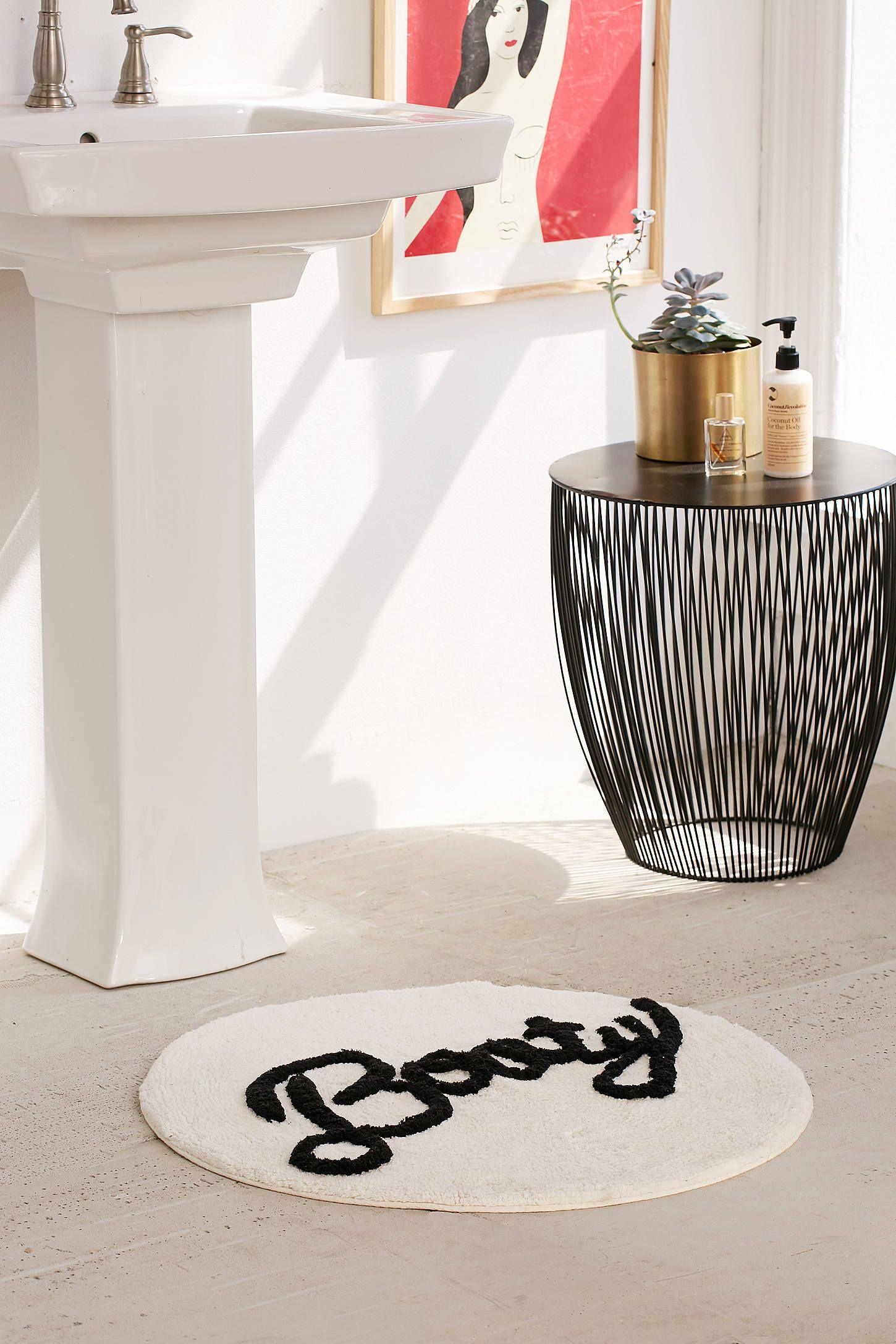 tapis rond salle de bain blanche acier - blog déco - clem around the corner