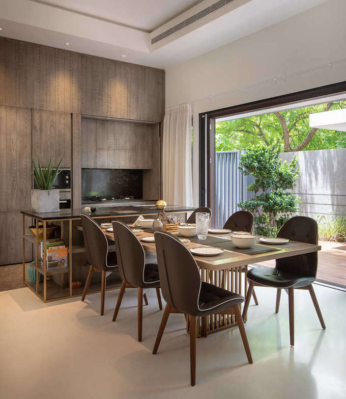 villa tropicale cuisine ouverte invisible - blog déco - clem around the corner