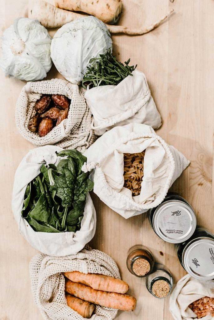 sac tissu filet blanc courses en vrac fruit légume écologique - blog déco - clem around the corner