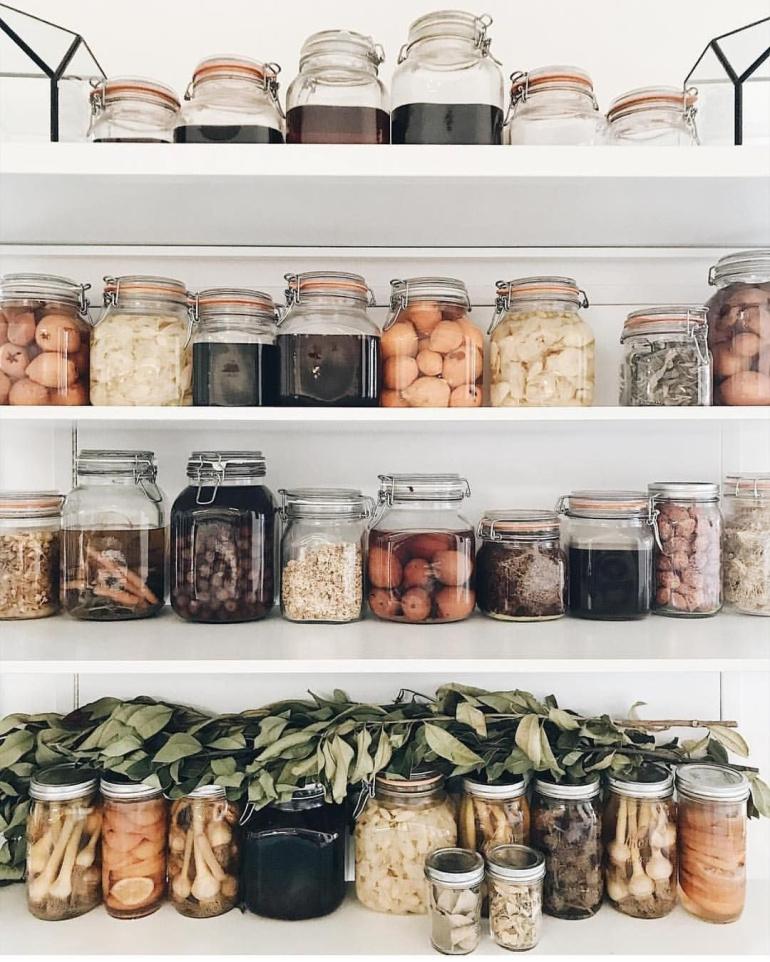 zéro déchet bocaux verre hermétique aliment sec fruit céréale meuble cuisine - blog déco - clem around the corner