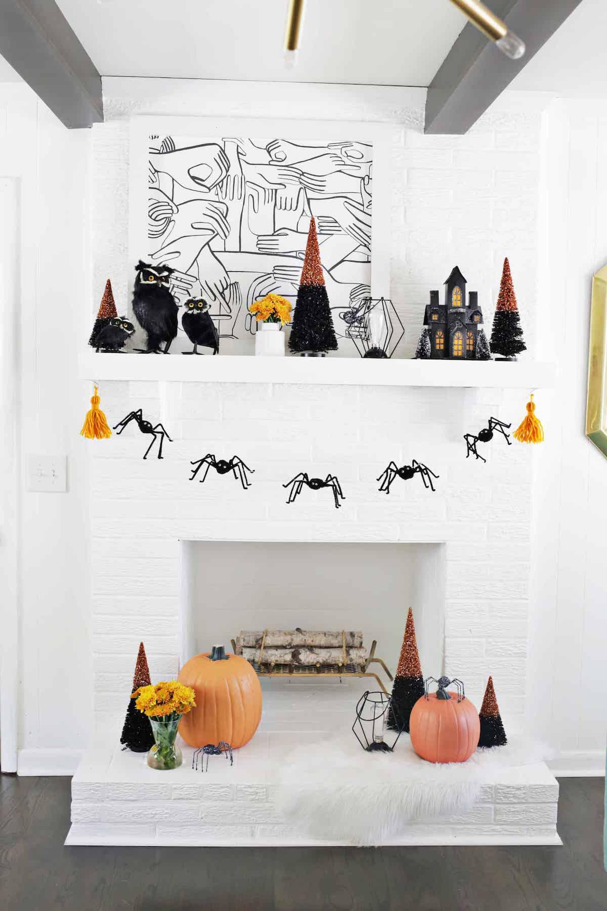 déco diy halloween facile araignée guirlande décoration - blog déco - clem around the corner