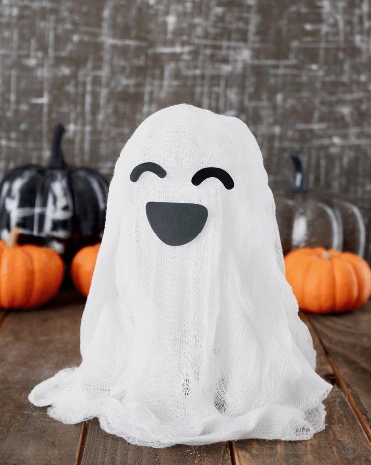 déco diy halloween facile fantôme tissus pansement - blog déco - clem around the corner