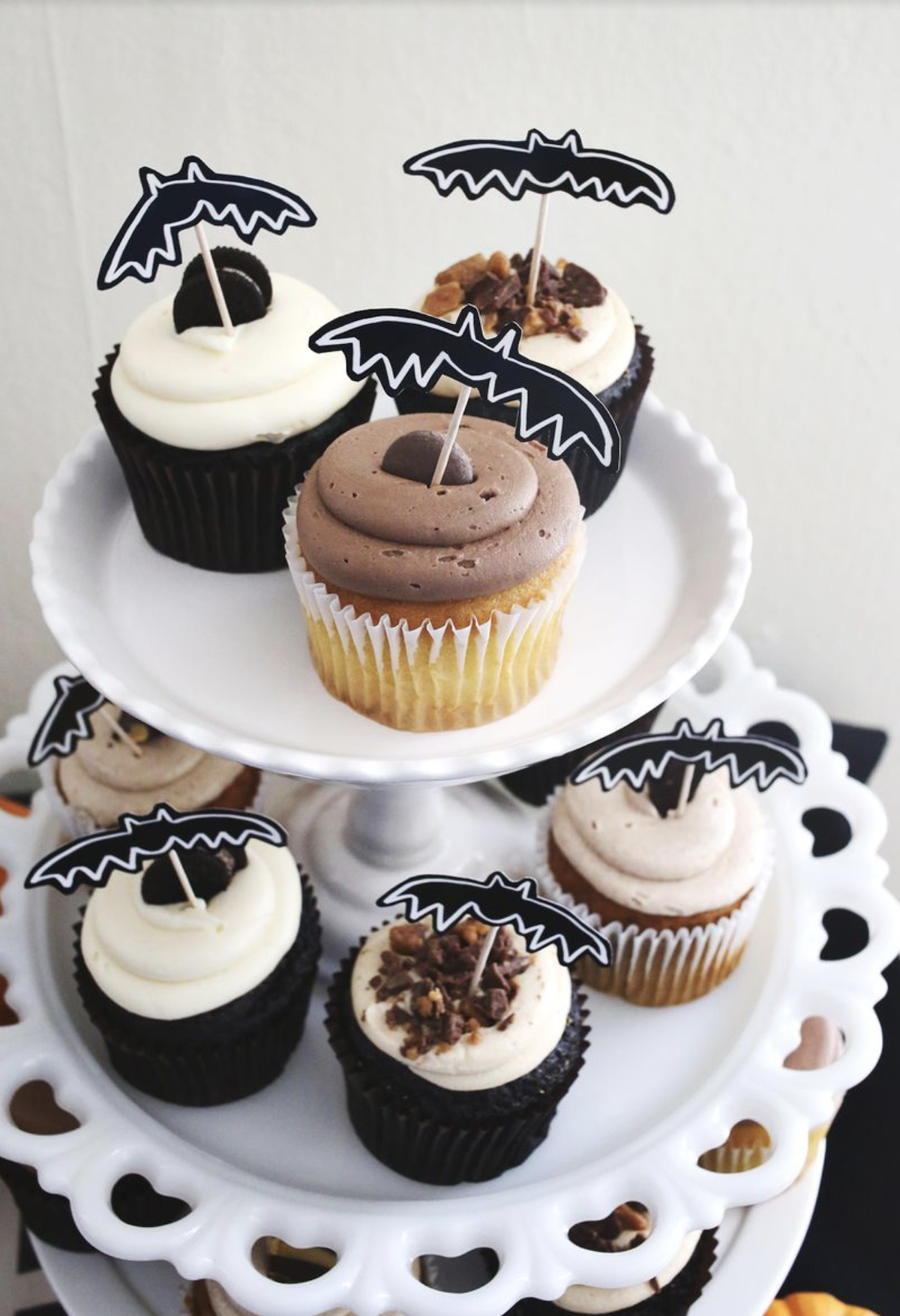 déco diy halloween facile pic cupcake - blog déco - clem around the corner