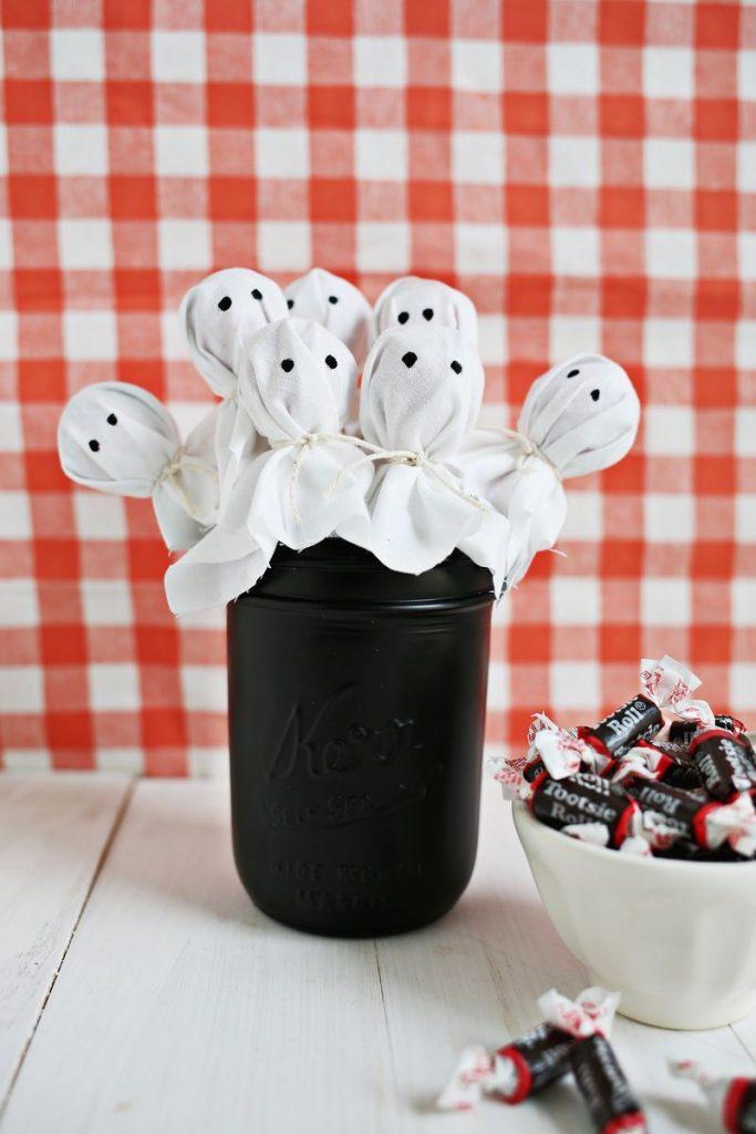 menu halloween sucrerie originale fantome bouquet sucettes