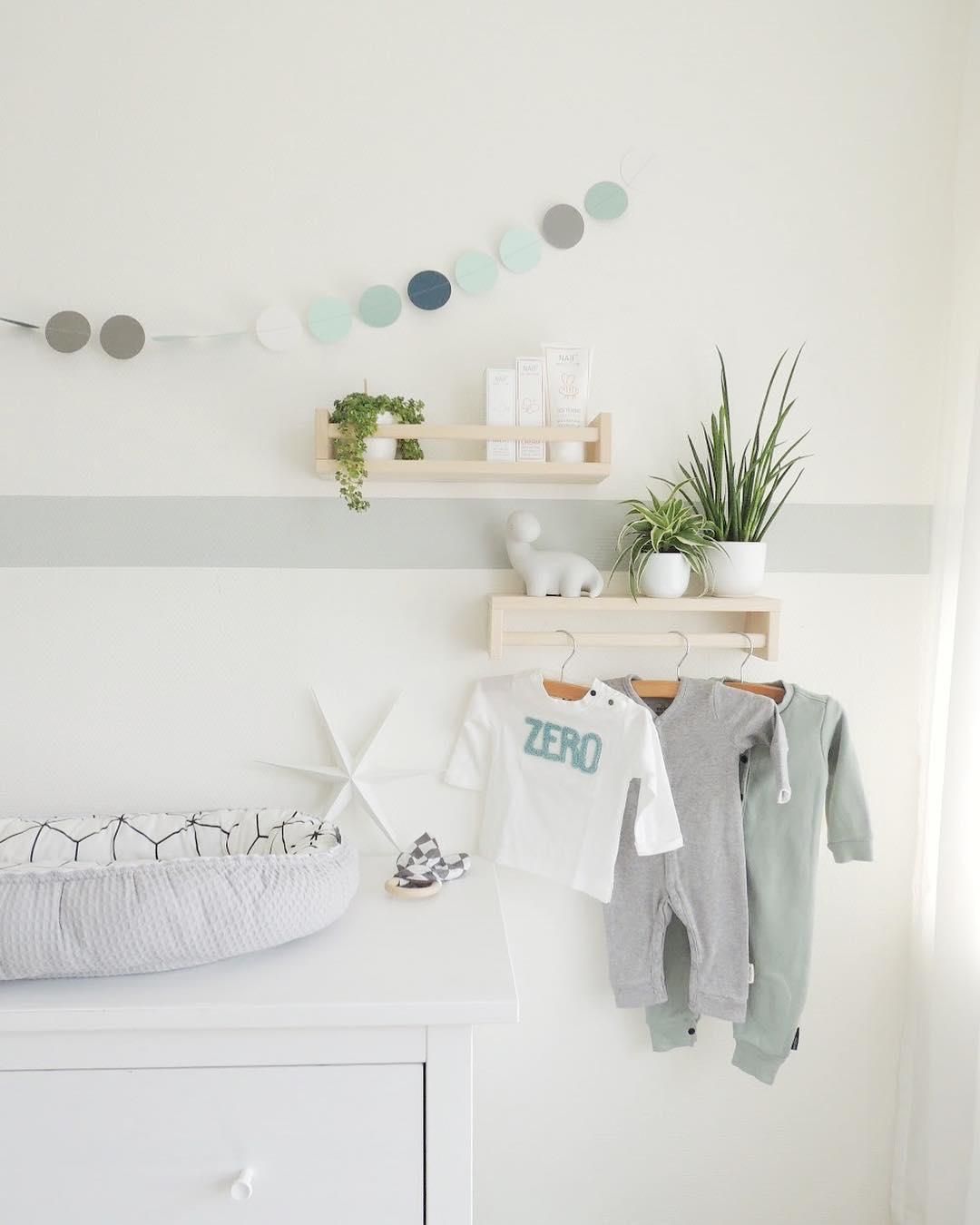 Ikea bekvam hack chambre bébé blanc gris turquoise meuble étoile blanche