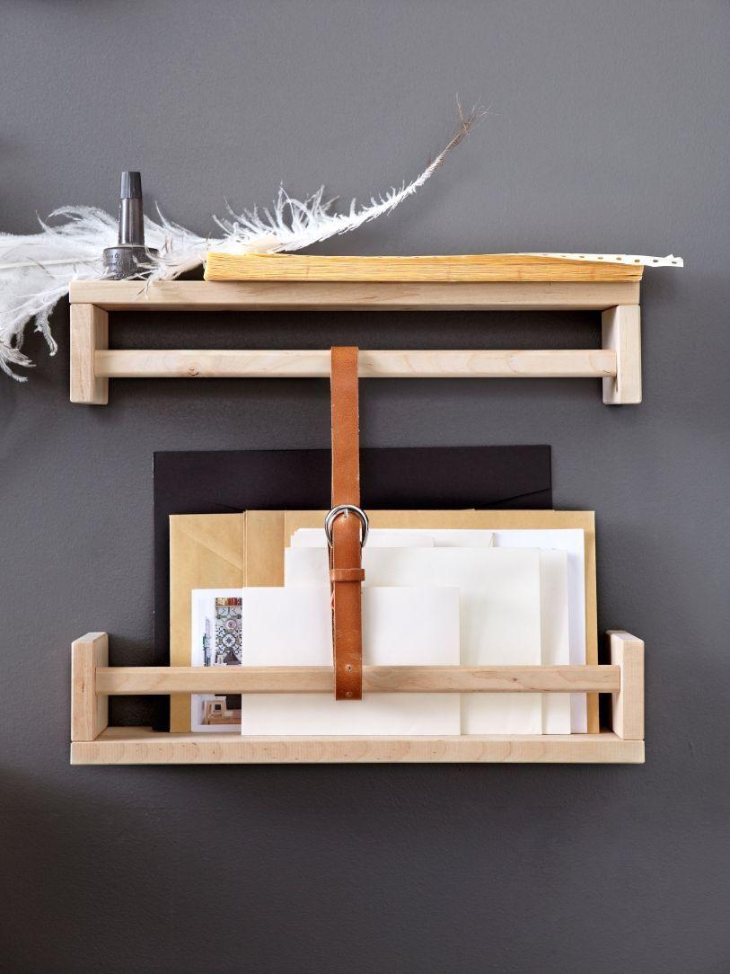 Ikea bekvam hackIkea bekvam hack bois lettre courrier fond gris noir plume blanche - blog déco - clem around the corner