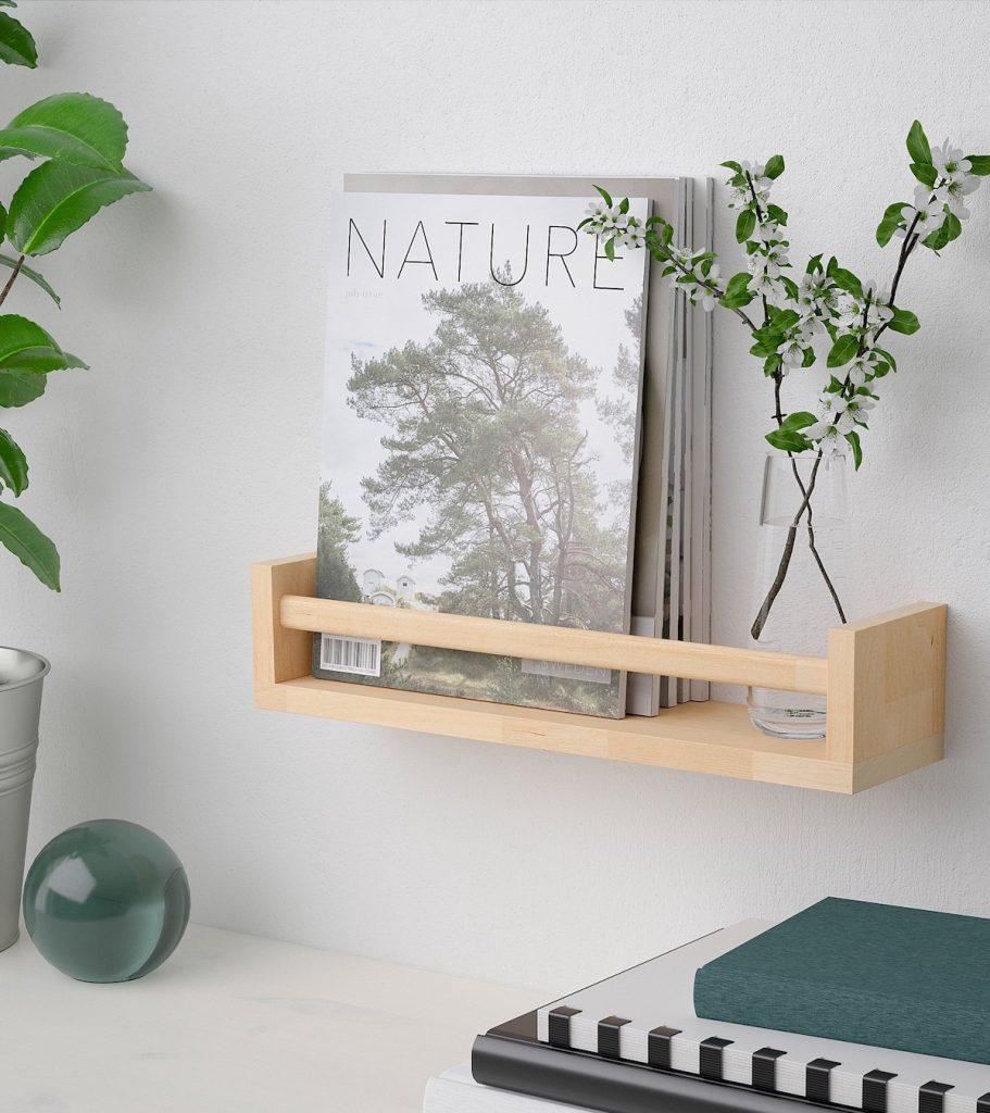 Ikea bekvam hack bois bureau chambre végétale plante verte bille livre cahier