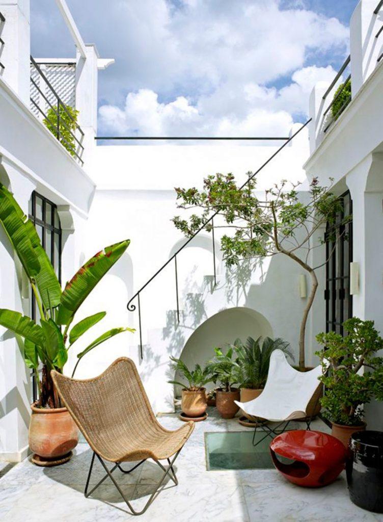 fauteuil butterfly fauteuil osier marron terrasse style méditerranée - blog déco - clem around the corner