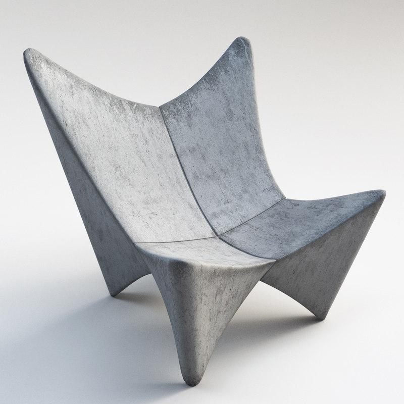 fauteuil butterfly fauteuil béton gris une place - blog déco - clem around the corner