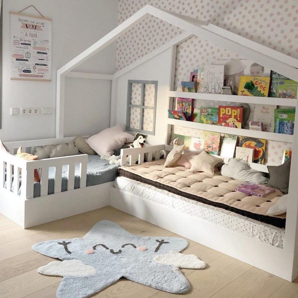 chambre lit cabane tapis lavable machin lorena canals - blog déco - clem around the corner