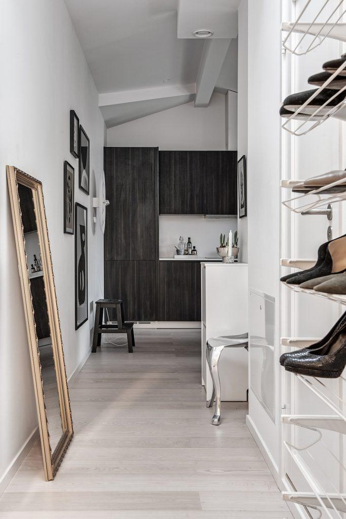 35 m2 pour vivre studio hall entrée rangement Marie Kondo - blog déco - clem around the corner