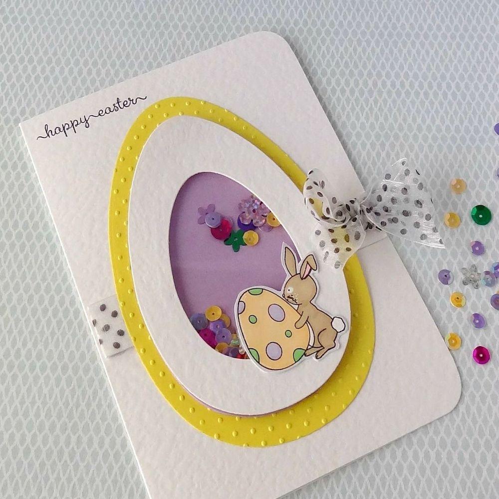 Pâques diy carte de voeux oeuf lapin ruban perle - blog déco - clem around the corner