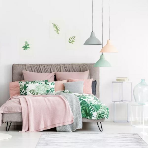 chambre rose et verte décoration originale couleurs - blog déco - clem around the corner