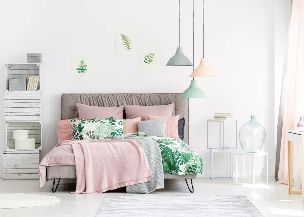 Chambre rose et verte - Blog Déco - Clem Around The Corner