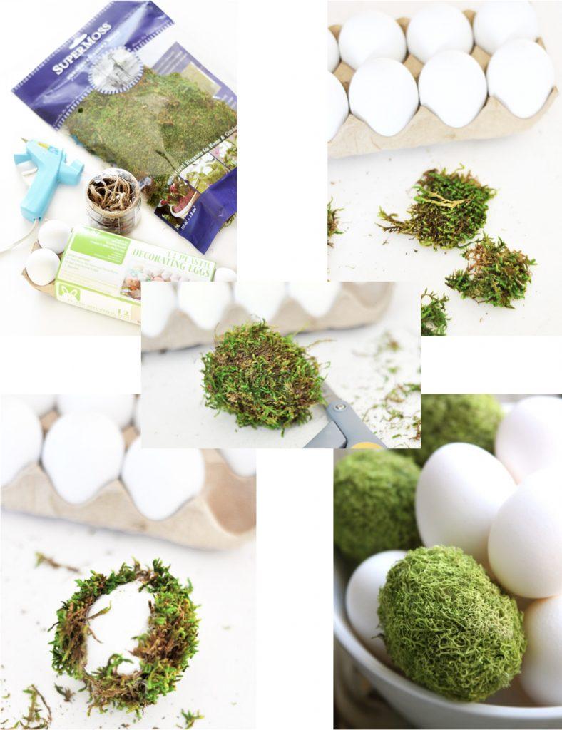 Pâques diy oeuf plastique mousse verte végétale bricolage facile - blog déco - clem around the corner