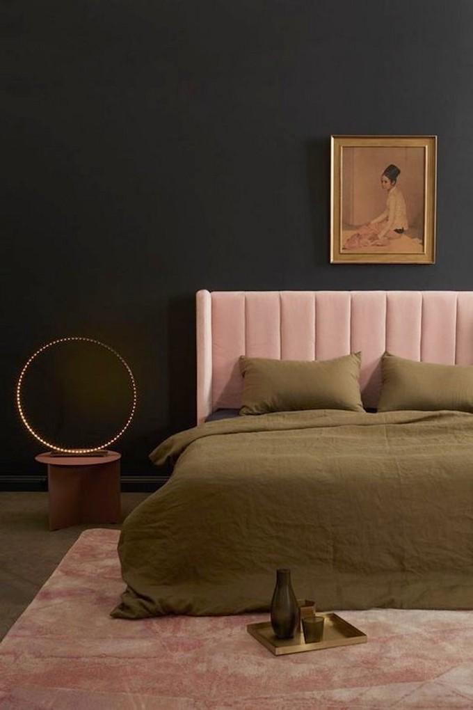 chambre rose et verte kaki blush tendance poudré - blog déco - clem around the corner