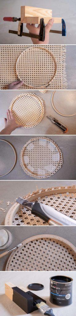 cannage diy lampe diy bricolage - blog déco - clem around the corner