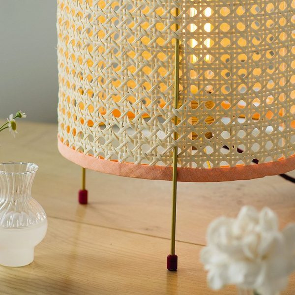 cannage diy fauteuil chaise rose blush rétro lampe - blog déco - clem around the corner