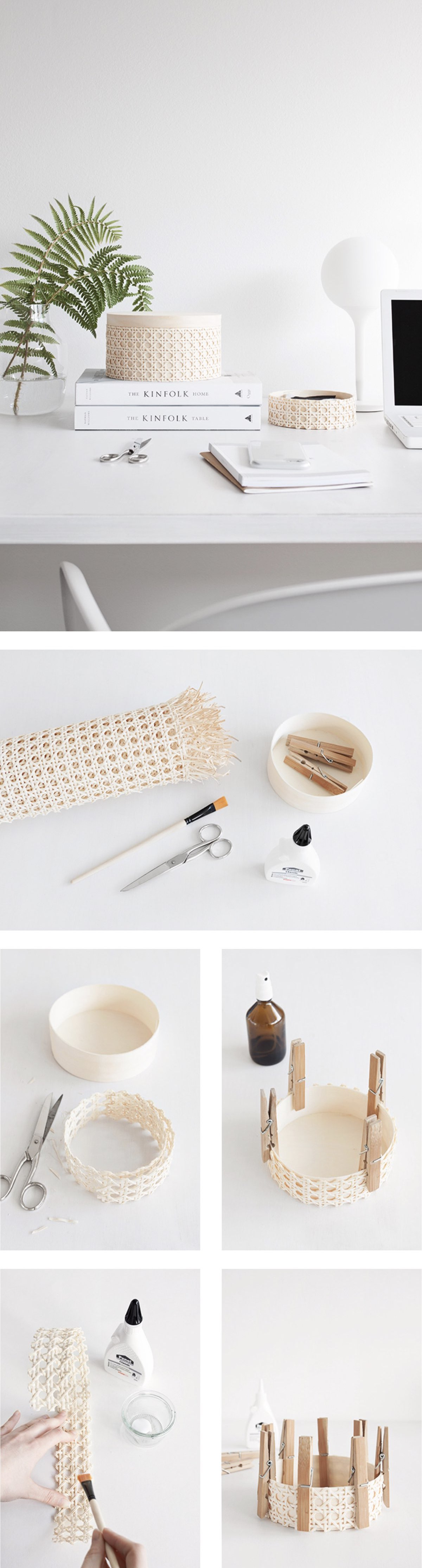 cannage diy création recyclage - blog déco - clem around the corner