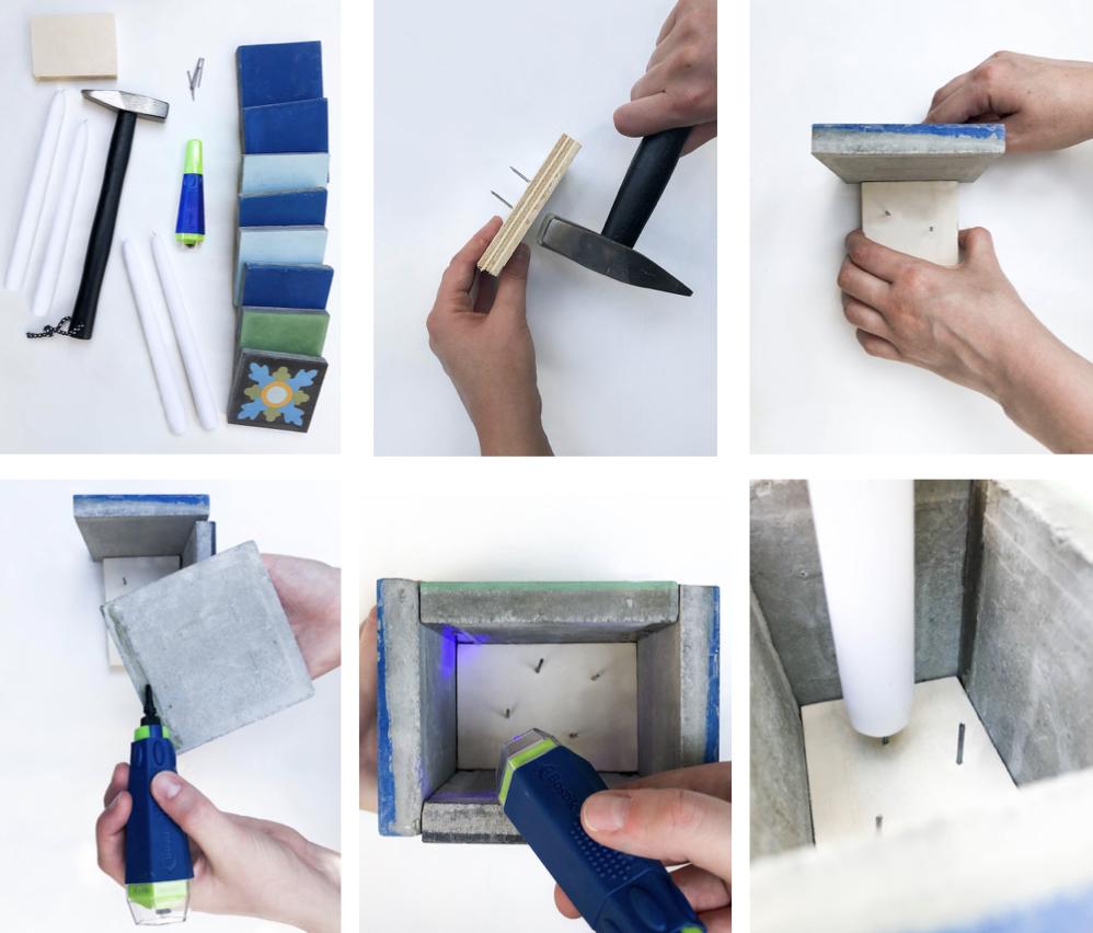 cache pot carreaux ciment carré gris tuto bricolage facile diy maison - blog déco - clem around the corner