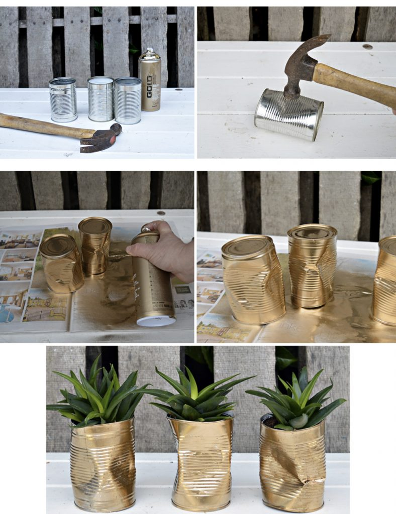 cache pot diy conserve broyée récup doré bricolage facile - blog déco - clem around the corner