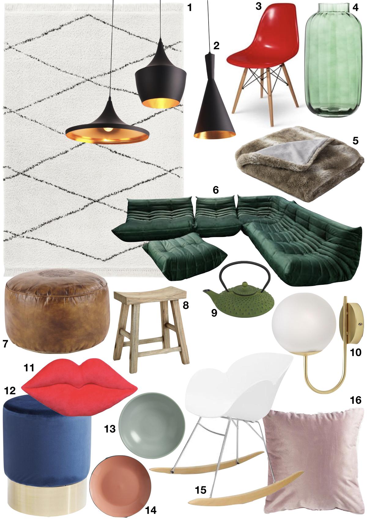 Théo Bert Pot style éclectique décoration design togo velours tom dixon - Blog Déco - Clem around the corner