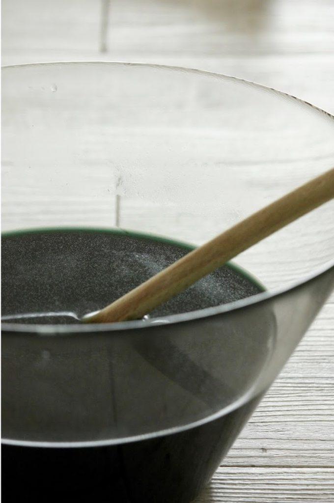 tie and dye vert bricolage eau peinture - blog déco - clem around the corner