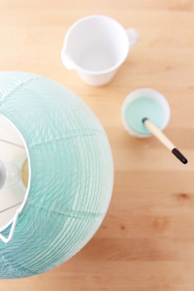 tie and dye bleu abat jour papier diy - blog déco - clem around the corner