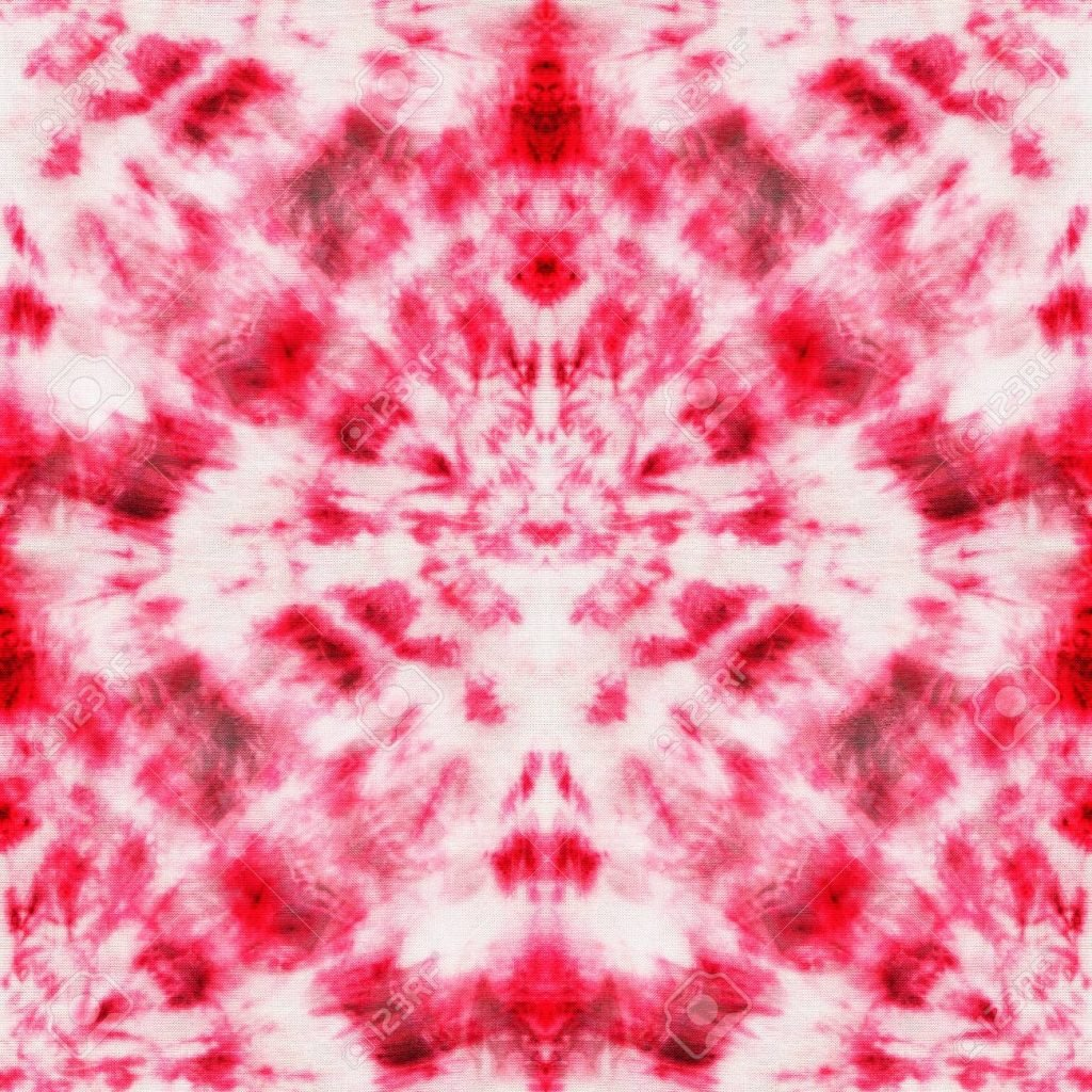 tie and dye motif cercle rouge blanc rose - blog déco - clem around the corner