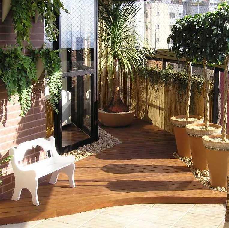 plante balcon ouest palmier terrasse bois soleil mur brique - blog déco - clem around the corner