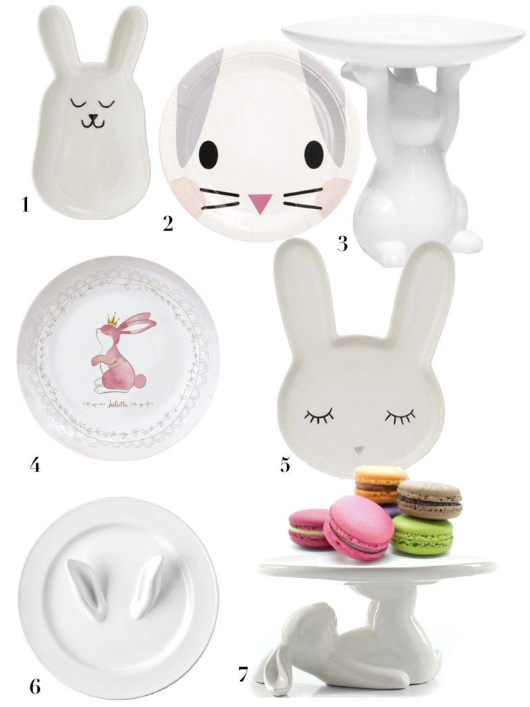 Table de Pâques déco inspiration printanière assiette lapin pâques fête chocolat décoration vaisselle - blog déco - clem around the corner