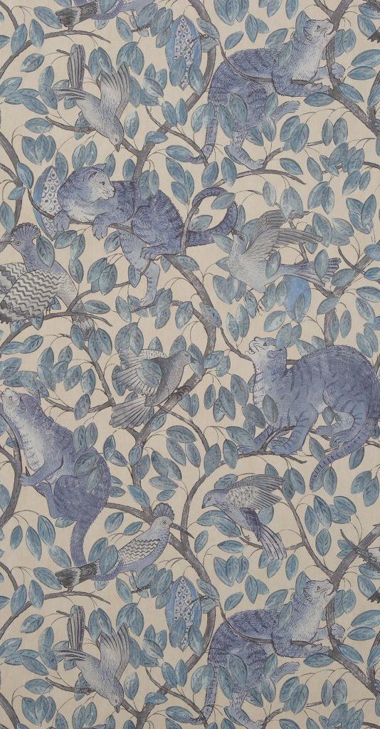 shauna dennison papier peint coloris original bleu gris - blog déco - clem around the corner