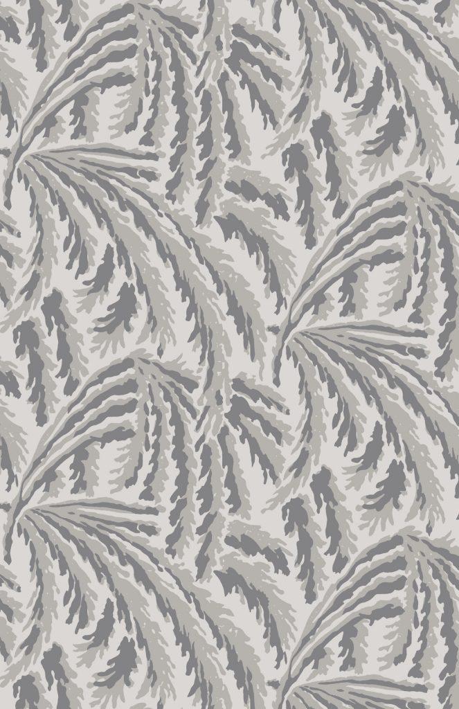 shauna dennison papier peint végétal art déco grey - blog déco - clem around the corner