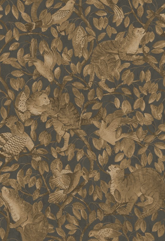 shauna dennison papier peint coloris original motif uni or bronze - blog déco - clem around the corner