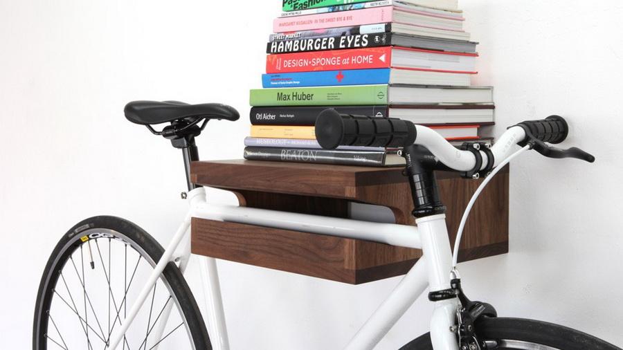 déco vélo étagère livre bois rangement - blog déco - clem around the corner