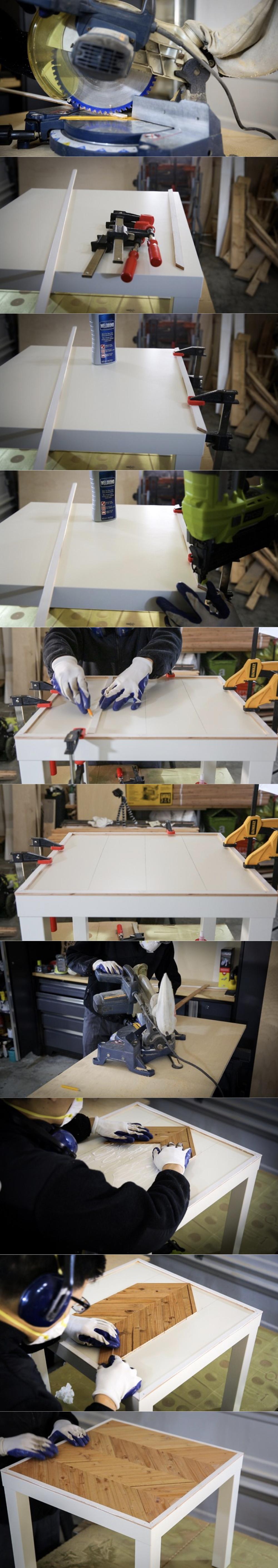 lack ikea hack table chic bricolage parquet - blog déco - clem around the corner