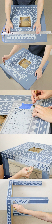 Lack IKEA hack transformer la table basse en guéridon maroccain