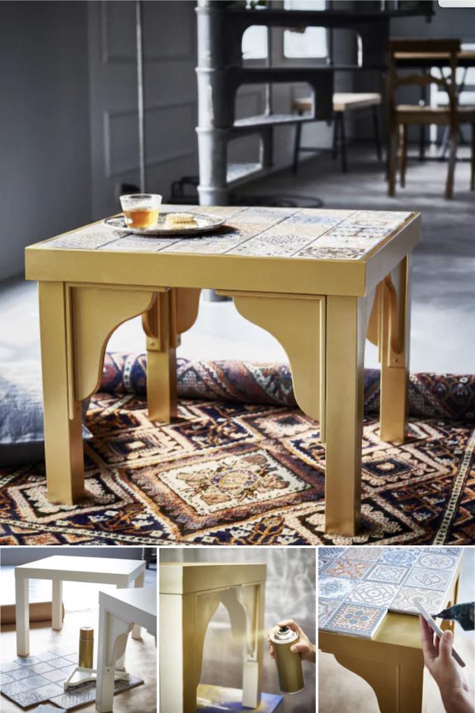 lack ikea hack table orientale - blog déco clem around the corner
