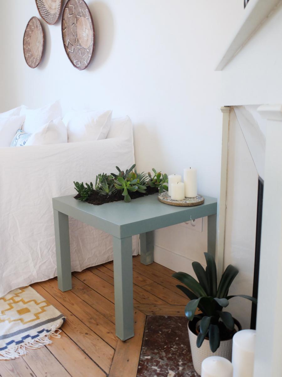 lack ikea hack table salon plantes jardin - blog déco - clem around the corner