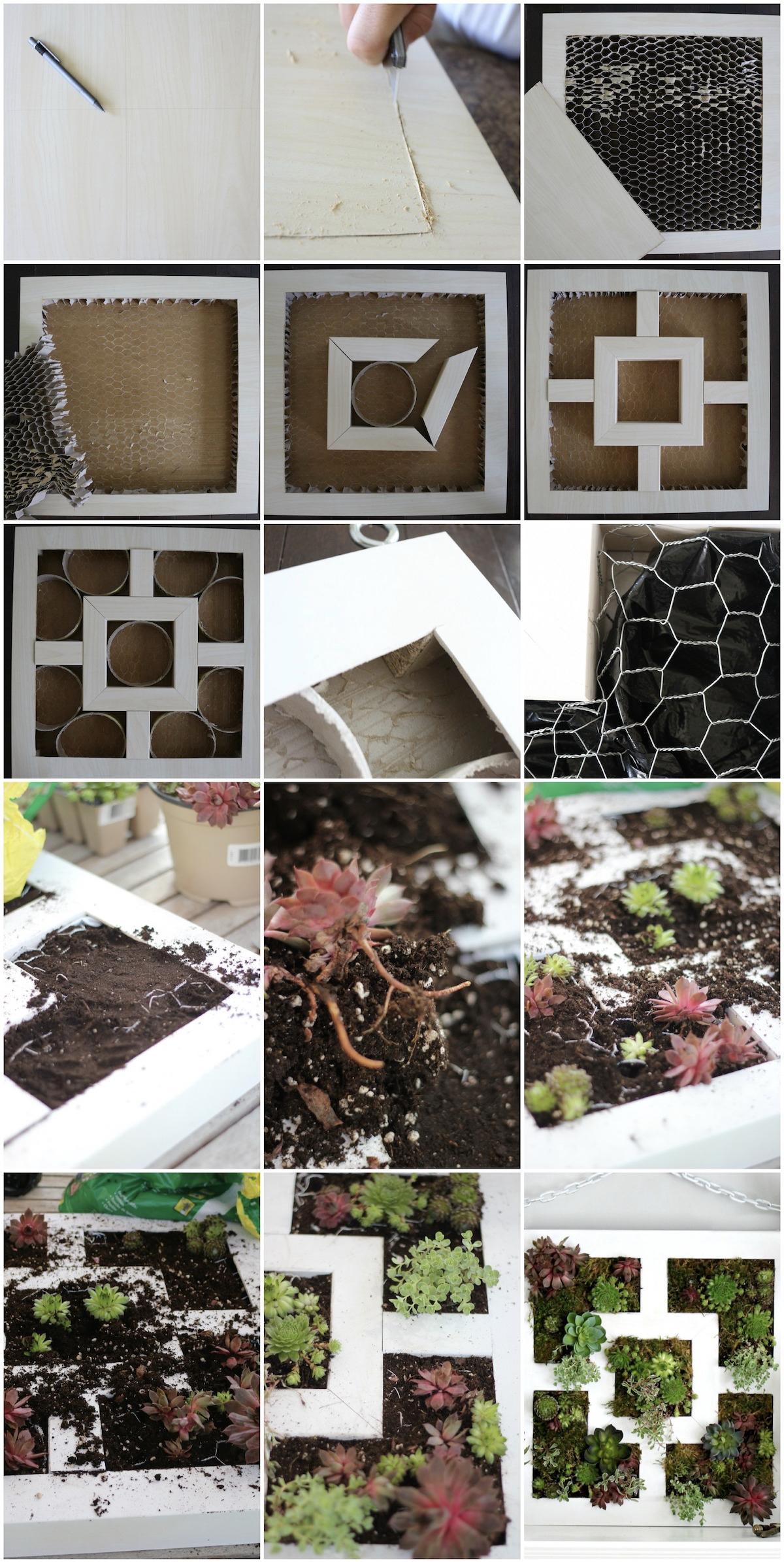créer un tableau mur de plantes pour l'intérieur - blog déco - clem around the corner
